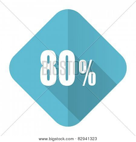 80 percent flat icon sale sign