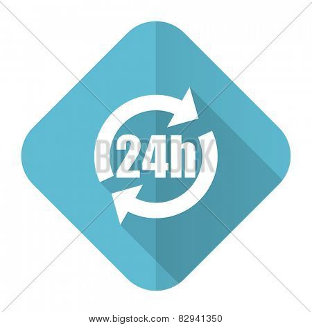 24h flat icon