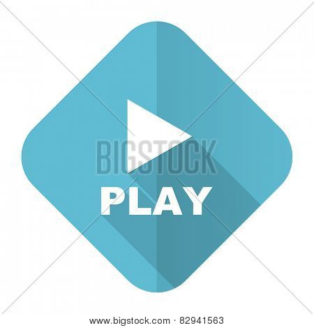 play flat icon
