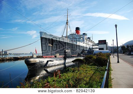 Queen Mary and Russian Scorpion in Long Beach, CA