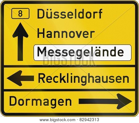 Direction Sign Duesseldorf