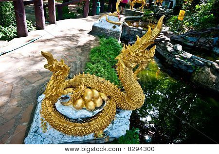The Naga Sculpture With Eggs