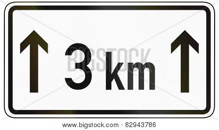 For 3 Kilometers