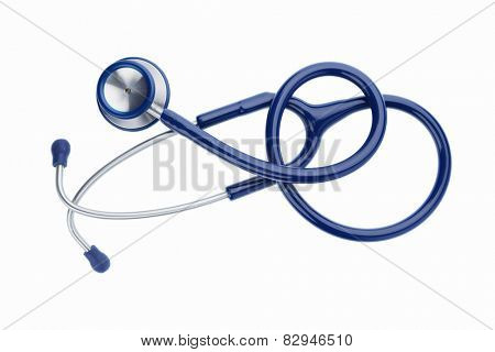 stethoscope against white background, photo icon for the medical profession and diagnostics