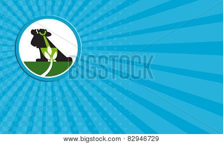 Business Card Organic Farmer Shovel Plant Circle