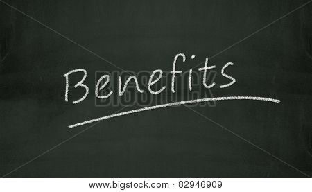 Chalkboard Benefits Illustration