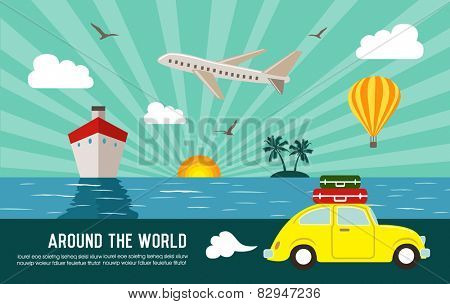Travel and vacation background