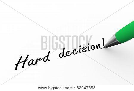 3D Pen Writing Hard Decision Illustration