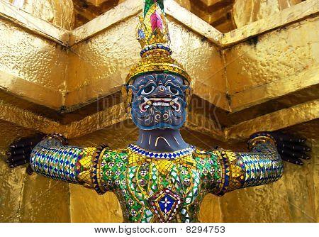 Buddhist Statue Detail