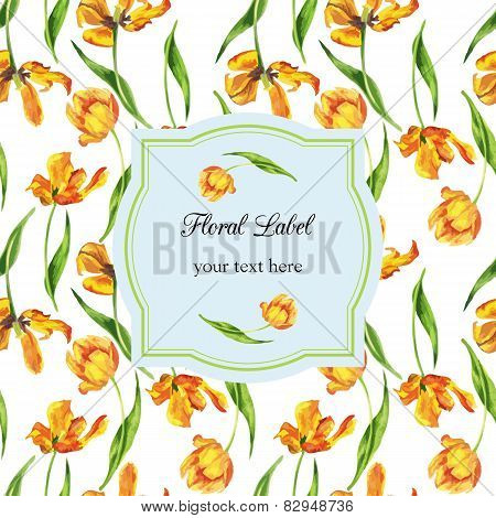 watercolor floral template