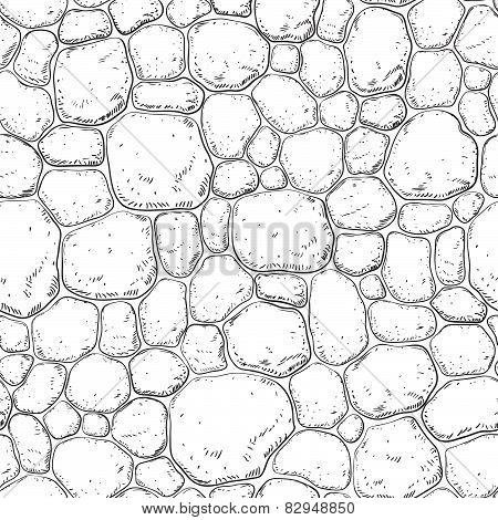 Seamless pattern with stones