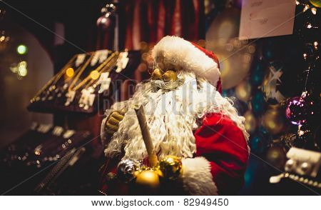Santa Claus Statue With Big White Beard