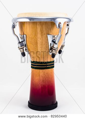 Djembe on white background