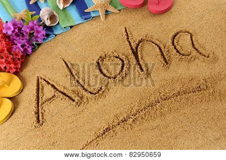 Aloha Beach Writing
