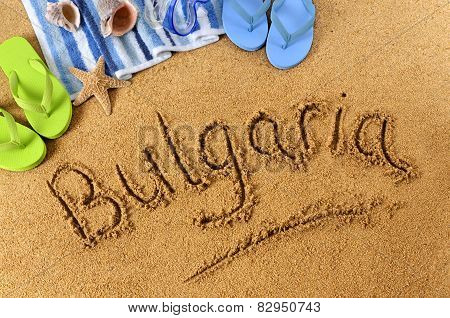 Bulgaria Beach Writing