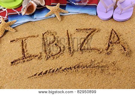 Ibiza Beach Writing