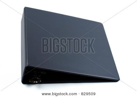 Black binder isolated