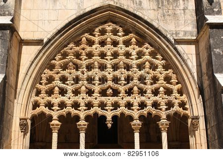 Carvings in Santa Maria da Vitoria monastery, Batalha, Portugal