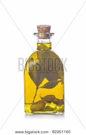 Olive Oil With Garlic And Laurel Bay