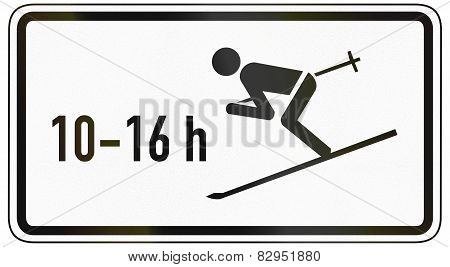 Skiers Crossing Road