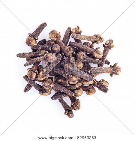 Cloves Islolated On A White Background