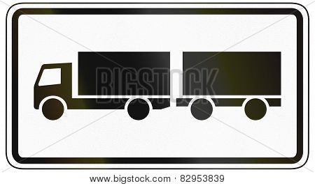 Lorries With Trailer Only