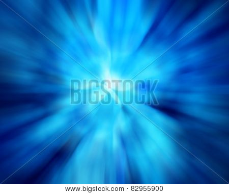 Blue Color Tone Radial Motion Blur Illustration Abstract For Background