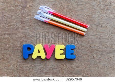 Payee