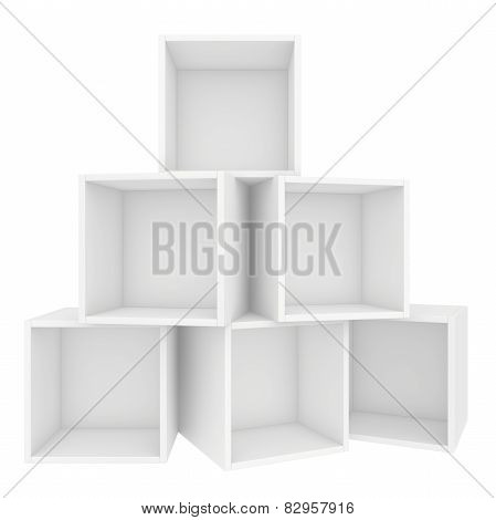 empty shelf. 3d render on white background