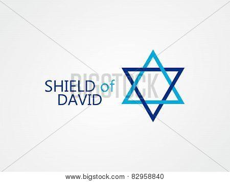 Vector logo of star of David
