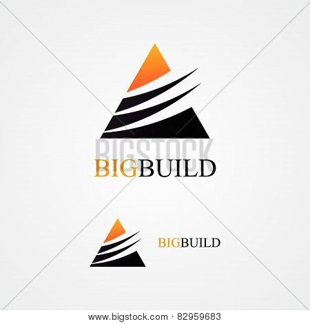 Vector triangle design  logo