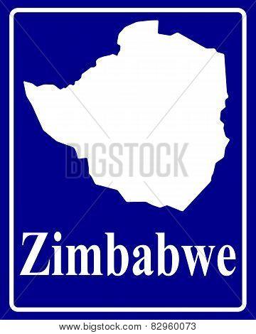 Silhouette Map Of Zimbabwe