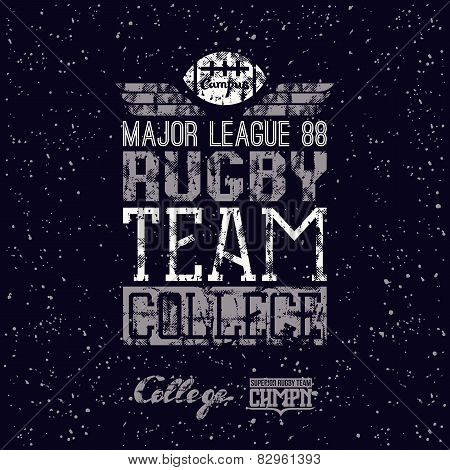 Campus Rugby Team Print