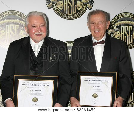 LOS ANGELES - FEB 15:  Denny Clairmont, Otto Nemenz at the 2015 American Society of Cinematographers Awards at a Century Plaza Hotel on February 15, 2015 in Century City, CA