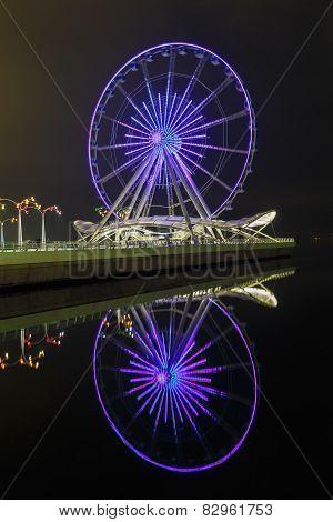 Ferris Wheel On The Boulevard In Baku