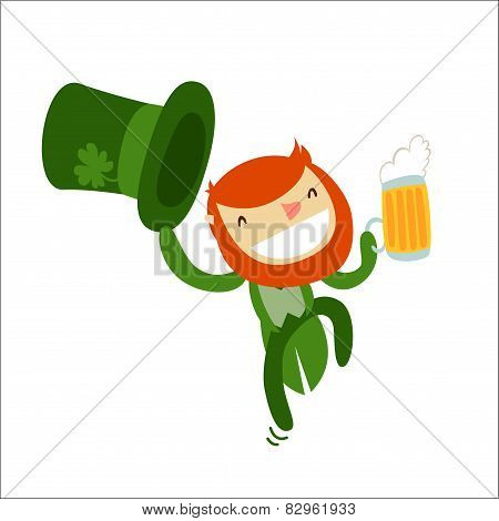 Leprechaun Charachter Isolated