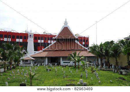 Masjid Kampung Hulu in Malacca, Malaysia