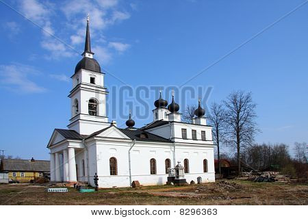"""Church in Kobona Russia was from here begun """"Lifeline """" in this church Resident of Blockaded Leningr"""