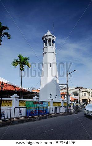 Minaret of Masjid Kampung Hulu in Malacca, Malaysia