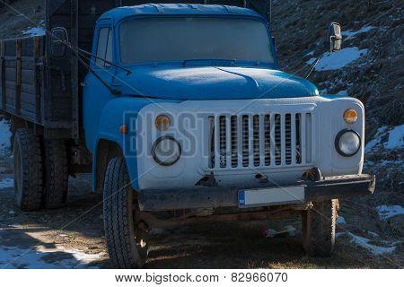 Old Blue Russian Truck , Zil