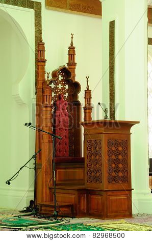 Mimbar of Kuala Lumpur Jamek Mosque in Malaysia