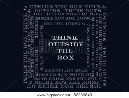 Chalk Drawing - Thinking  Outside The Box