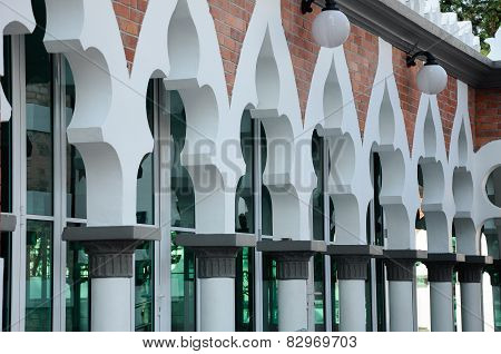 Series of arch at Kuala Lumpur Jamek Mosque in Malaysia
