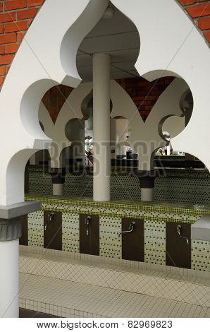 Ablution of the Kuala Lumpur Jamek Mosque in Malaysia