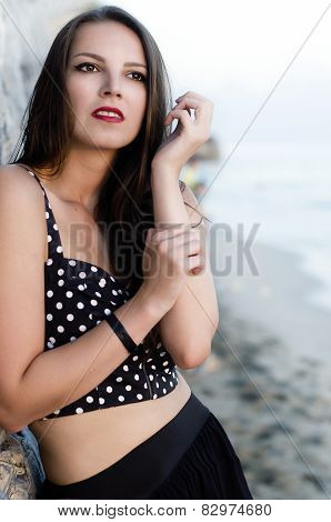 The Beautiful Girl By The Sea