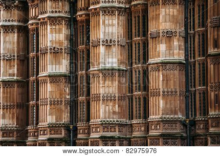 Westminster Abbey Columns Wall, London, United Kingdom