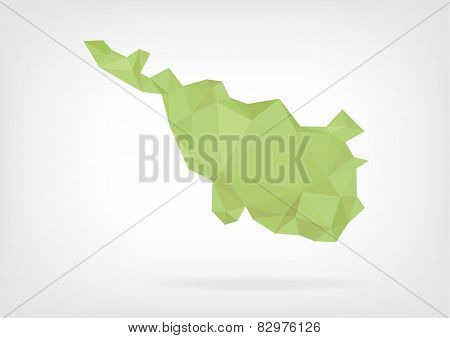 Low Poly map of german region Bremen