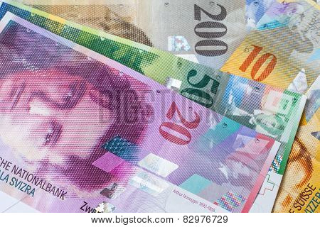 Swiss Currency Banknote