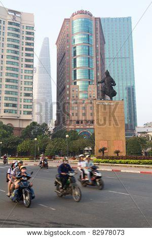 Motorbikes Statue