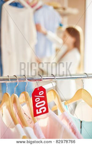 Half price for collection of clothes